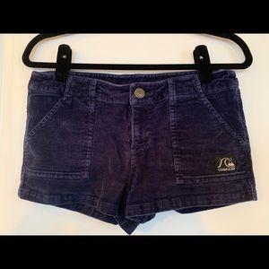 Corduroy Navy Shorts